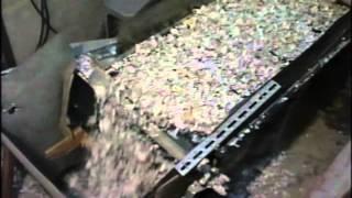 JQA検査基準適合の機密書類の安全処理施設(ジオックス)内の大型破砕機【ht...
