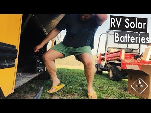 RV Solar Batteries   Skoolie Bus Conversion Tiny House Videos
