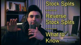 Stock Splits & Reverse Stock Splits | Stock Market Investing