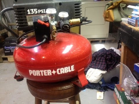 Porter Cable 6 Gallon Pancake Air Compressor Disassembly For Repairs