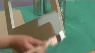 Table Top Puppet Theater : Painting Craft Board