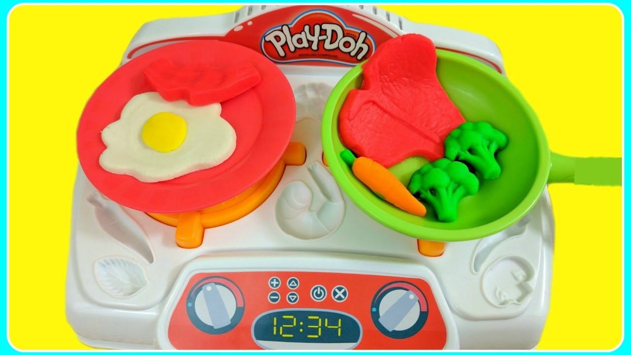 Play doh sizzlin stovetop kitchen creations diy play doh for Play doh cuisine