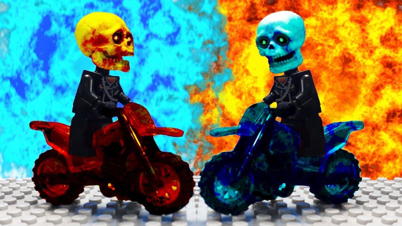 Ghost Rider vs Angel Rider - Lego Stop Motion