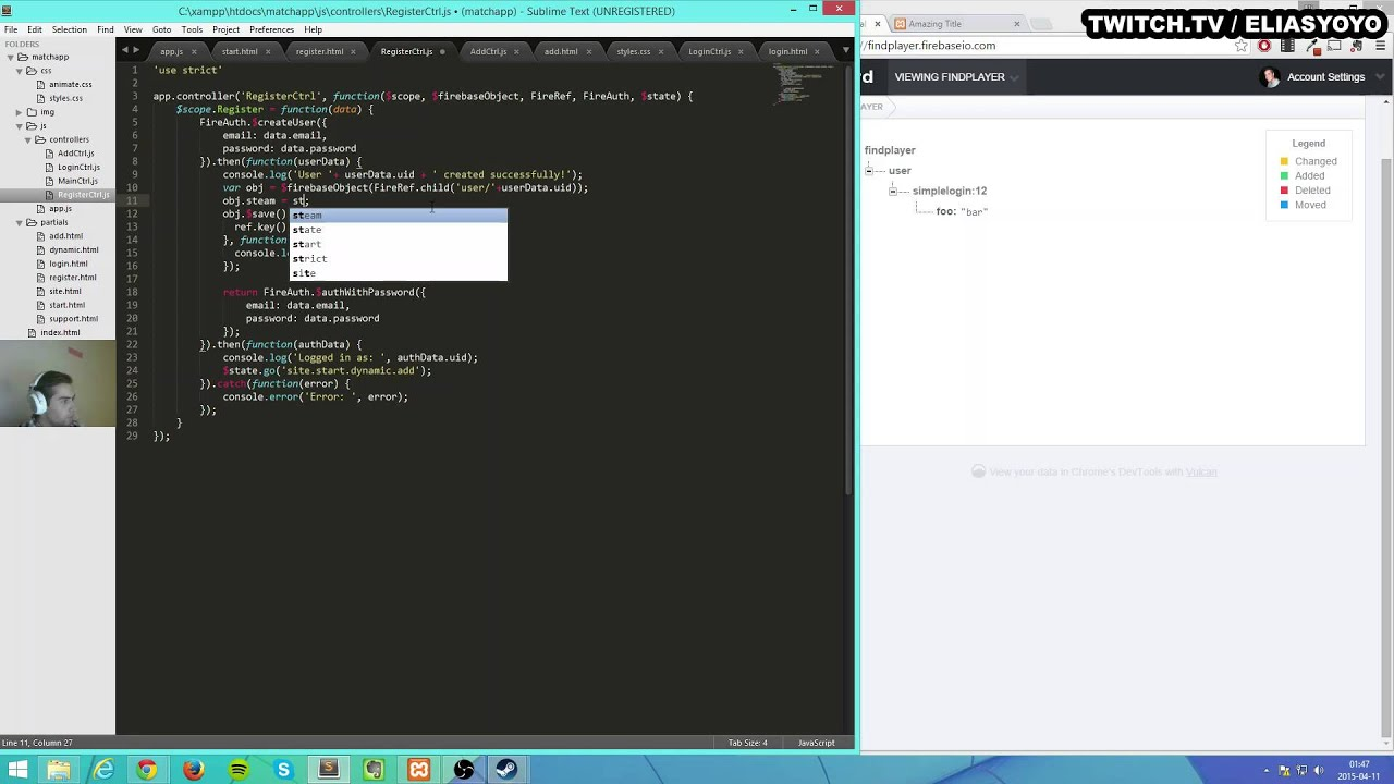 [STREAM] Real-time app with AngularJS & Firebase - 2 / 2