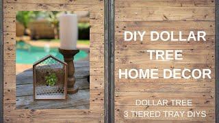 DOLLAR TREE DIY  |  Home Decor  |  3 Tier Tray DIYS
