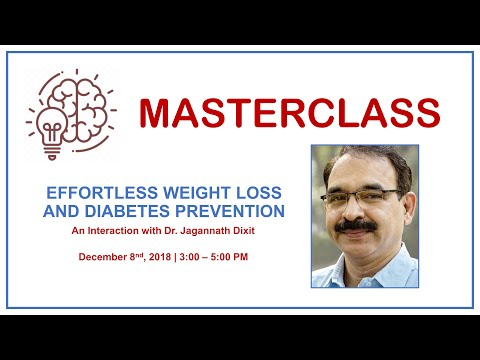 Talk by Dr Jagannath Dixit on Effortless weight loss & Diabetes prevention