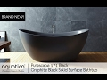 Purescape 171 Black Freestanding Solid Surface Bathtub Infomercial