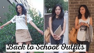 3 Back to School Outfits