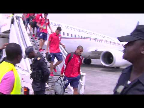 Arrival of Equatorial Guinea in Malabo - Orange Africa Cup of Nations, EQUATORIAL GUINEA 2015