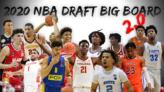 2020 NBA Draft Big Board 2.0 | Pre-Draft Lottery!