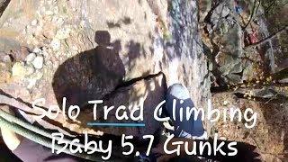 Never do this Solo Trad Climbing! (Solo Trad climbing Baby 5.7 at the Gunks)