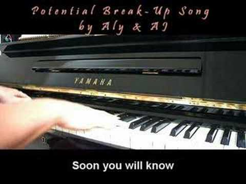 Aly & AJ - Potential Breakup Song (Piano Cover w/ Lyrics)