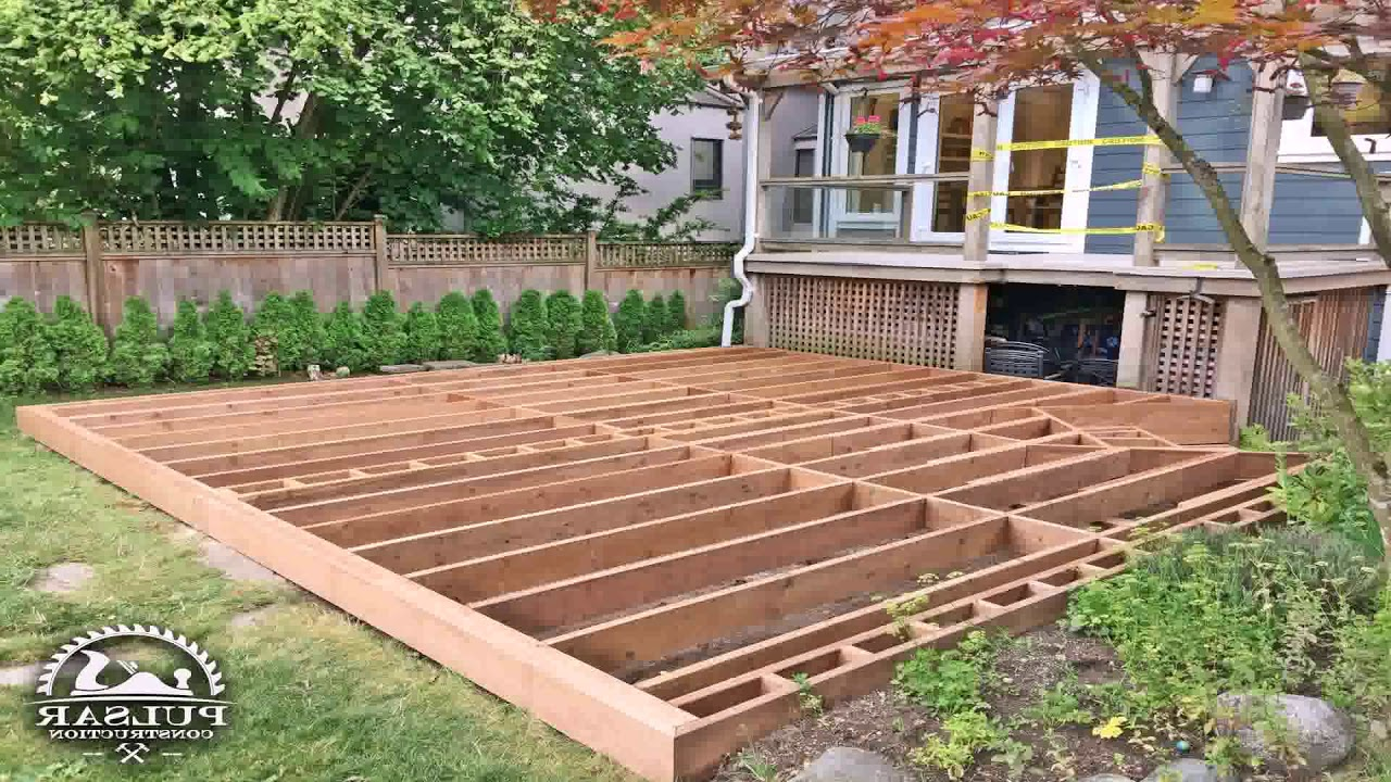 How To Build A Ground Level Patio Deck - YouTube