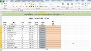Excel 2010: Bai 1.3: Sao chép công thức tính trong cột
