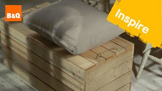 Wooden storage bench #DIYcuts