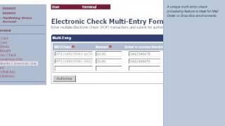 Virtual Merchant account processing credit cards.