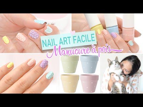 Nail art (très) facile et sans matériel : La Manucure à pois ♡