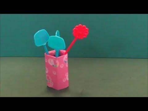 簡単 折り紙:爪楊枝入れ 折り紙-youtube.com