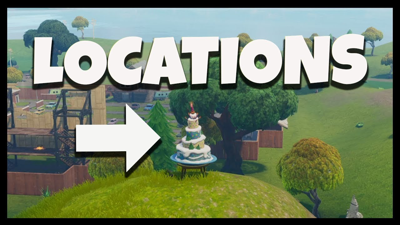 "Fortnite: All Birthday Cake Locations ""Dance In Front Of ..."