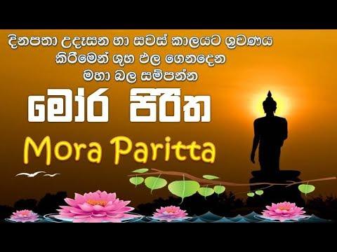 Mora Piritha - මෝර පිරිත උදයට සවසට නිතර ශ්රවනය කිරීමෙන් යහපත් ප්රතිඵල ගෙනදෙයි Mora Paritta