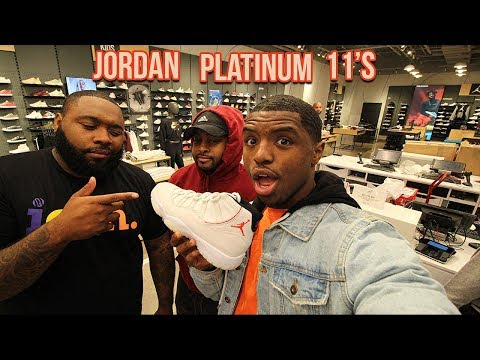 Air jordan platinum tint 11s pick up vlog!