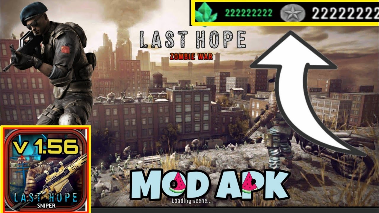 Last Hope Sniper-Zombie War Latest v 1 56 Mod Apk (Unlimited Coins &  Crystal) Free Download Android