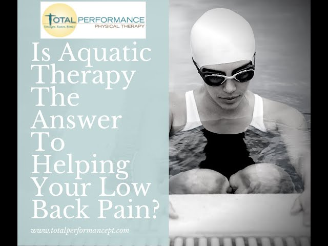 Is Aquatic Therapy The Answer To Your Back Pain
