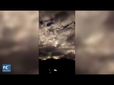 A fireball in the night sky overYunnan, China