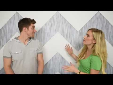 How To Paint Chevron Wall Painting Perfect Lines