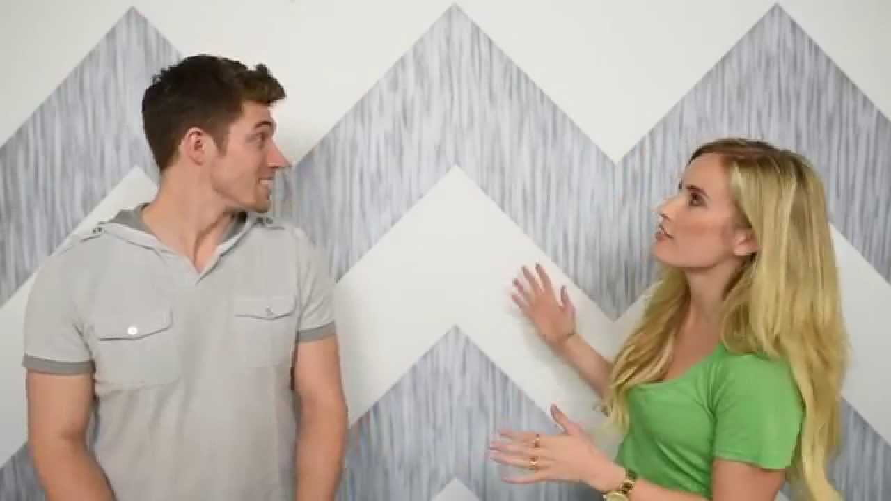 How To Paint A Chevron Wall Painting Perfect Lines Youtube