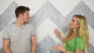 How To: Paint A Chevron Wall (painting Perfect Lines)