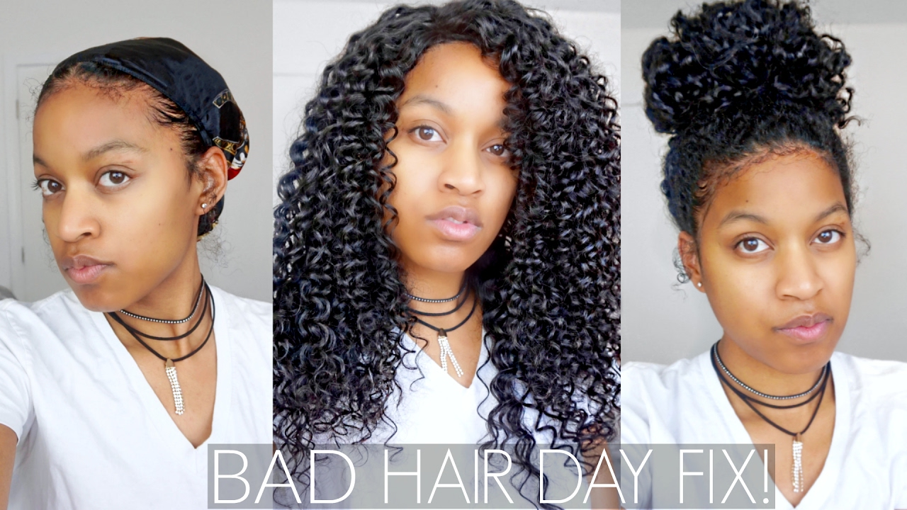 3 Quick Easy Protective Hair Styles For Bad Hair Day On Natural Hair Feat Chinahairmall Com