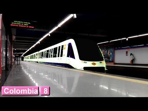 Colombia L8 : Metro de Madrid ( Serie 8000 )