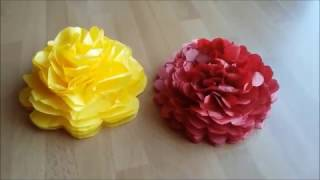 DIY Table POM-POM Flower Decoration Tutorial | GDS: Liggande POM-POM Blomma