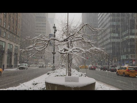 Spring snow storm slams New York City