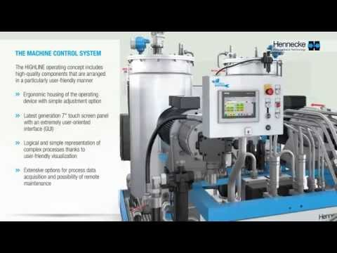 HIGHLINE Compact High-pressure Metering Machines For Two-component Polyurethane Applications