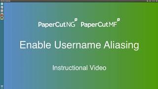 Enable Username Aliasing
