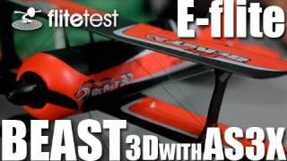 flite test e flite beast 3d as3x review