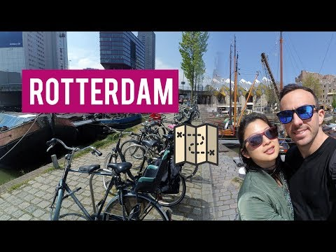 Holland - Rotterdam | Markthal | Cube Houses 🕋 | Yi cam