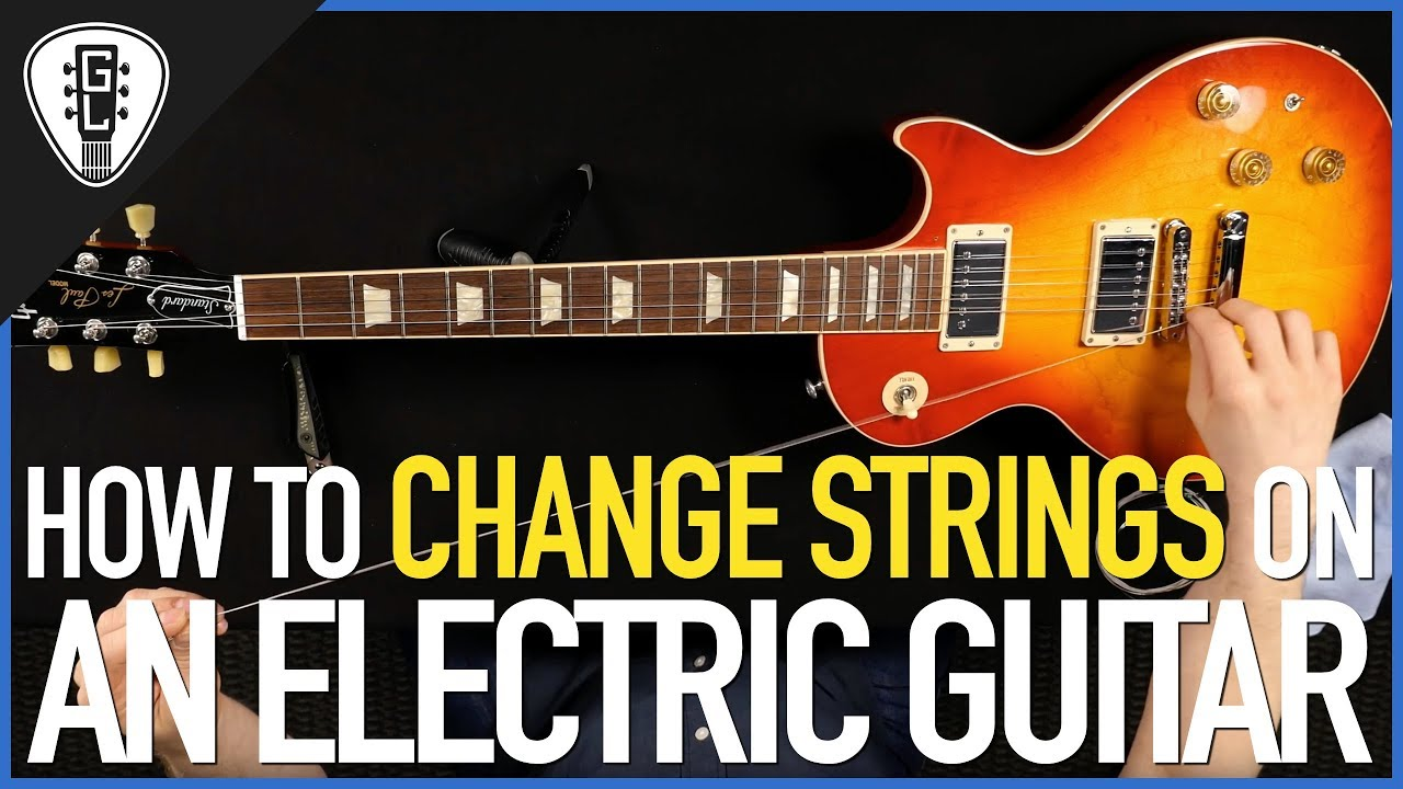 how to change strings on an electric guitar all types guitar lesson youtube. Black Bedroom Furniture Sets. Home Design Ideas