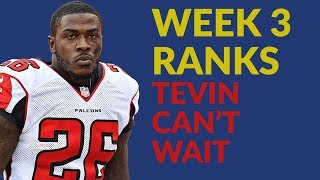 Tevin Coleman's Opportunity For Fantasy Football Glory Continues In Week 3, Plus More RB Ranks Talk