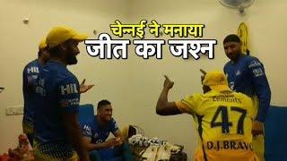 #IPL2018: Dwayne Bravo's Dance Tribute To HIs Captain   Sports Tak