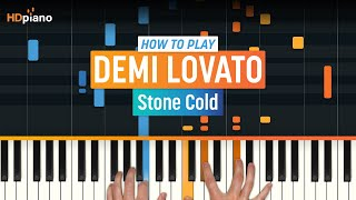 Скачать How To Play Stone Cold By Demi Lovato HDpiano Part 1 Piano Tutorial