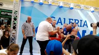 Hardkorowy Koksu vs Sławomir Głowacki (Armwrestling; Robert Burneika) 2017 Video