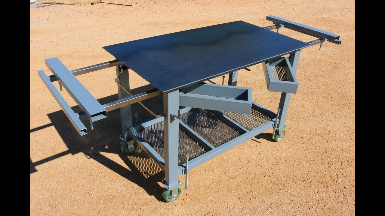 Welding Table Workbench Build How To Youtube