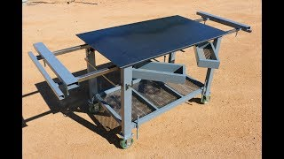Building a Welding Table / Multifunctional workbench for the shipping container shop. I plan on using this welding table/workbench