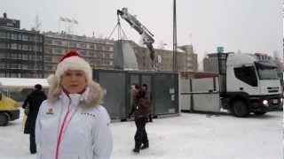 Joulupukin kontti saapui Mikkelin torille