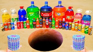 Giant Coca Cola, Fanta, Sprite and Big Pepsi, Mirinda, 7up, Chupa Chups vs Mentos Underground