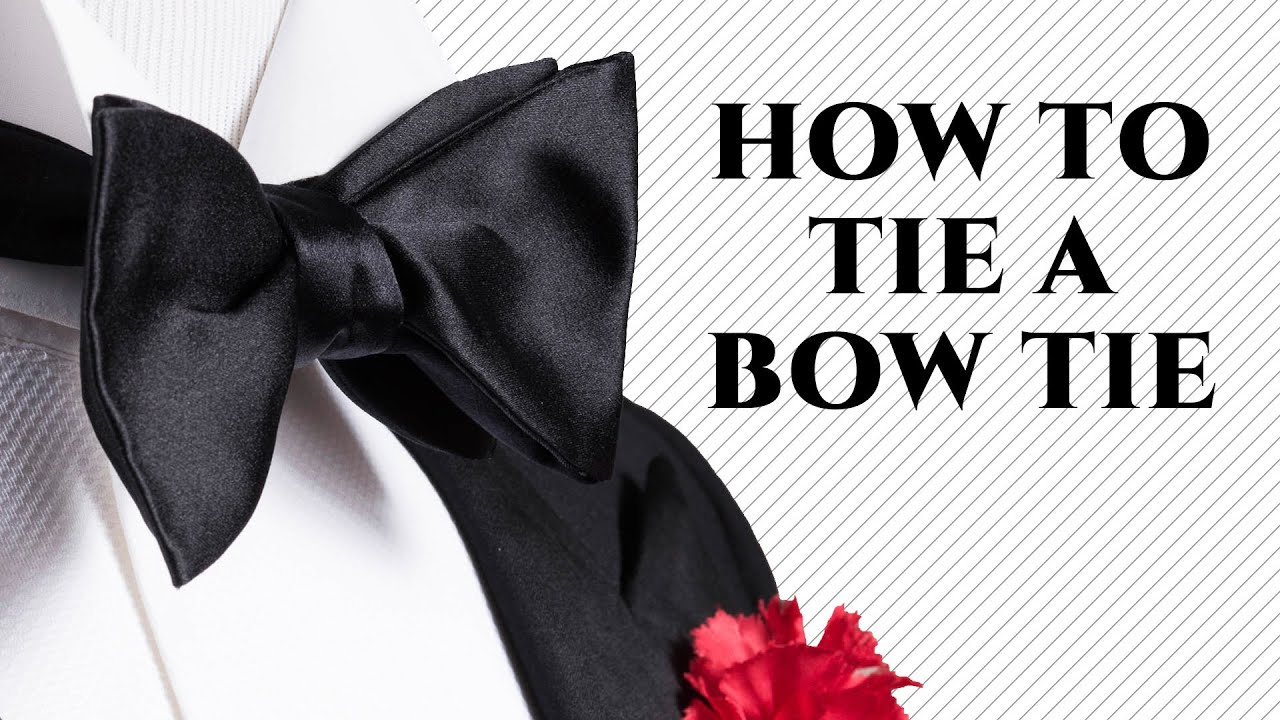 0eaf63c1371f HOW TO TIE A BOW TIE Step-By-Step The Easy Way