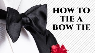 HOW TO TIE A BOW TIE Step-By-Step The Easy Way, Slow, For Beginners - WORKS GUARANTEED